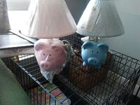 two piggybank table lamps Great Falls, 59405