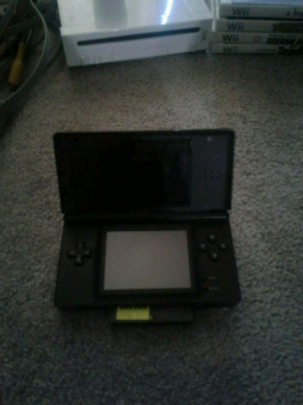 DS for sale with a GameBoy game and a DS game