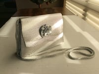 LOVELY SILVER FABRIC EVENING PURSE! Vancouver