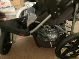 Jogging Stroller with Reflectors