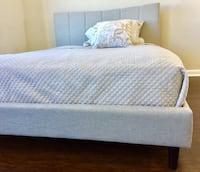 New Modern Sand Queen Bed  Silver Spring