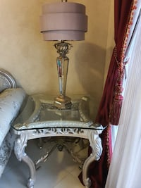 Beautiful side table + lamp!
