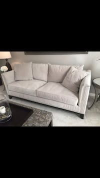 Z gallerie Pauline sofa in Bella pearl like pottery barn, Arhaus, restoration hardware, Ballard, pier 1, crate and barrel Chantilly, 20152