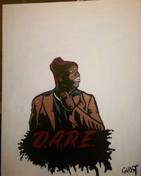 Chappelle as tyrone D.a.r.e painting 22x28  Gainesville