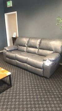 Leather Bonded Recliner Sofa