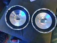 two black-and-blue coaxial speakers Chico, 95928