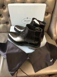 "Woman""s Prada Chelsea Lug Sole Chelsea Boots, New in box Designer"