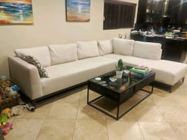 Living spaces sectional sofa
