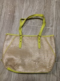 New Look (barely used) gold and bright green bag Washington, 20008