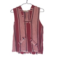 23a627f49869ad Used women's red and black striped v-neck sleeveless top for sale in  Homestead