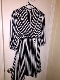 black and white striped long-sleeved dress Columbus, 31907