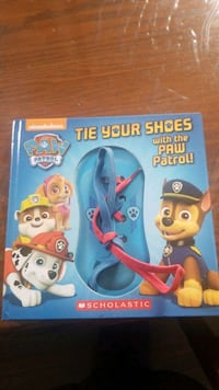 Paw patrol book learn to tie shoes