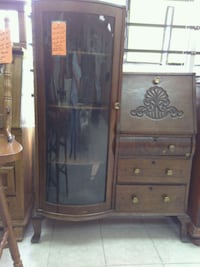 brown wooden framed glass cabinet Forest Hill, 76119