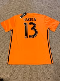 New Custom James Harden Houston Dynamos Jersey Houston, 77002