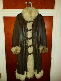 Vintage Leather and Fur 1970's Long Coat San Diego, 92102