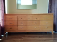 Solid wood, 5 piece bedroom set with queen size mattress in excellent condition  Richmond Hill, L4S 1X8