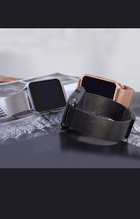 New smart watch works with iPhone Samsung lg htc bnib with stainless steel band  Toronto, M9L 2H8
