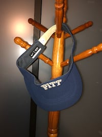 Pitt velcro visor never worn Pittsburgh
