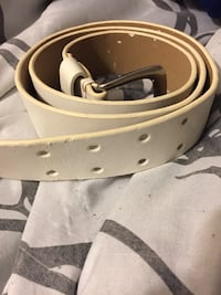 White and black leather belt Pasadena, 77503