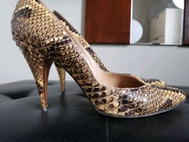Sexy Ladies Snakeskin Stiletto Shoes