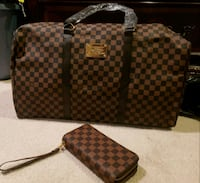 two brown and black leather handbags District Heights, 20747