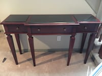 brown wooden single pedestal desk Ottawa, K4A 3S4