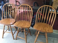 two brown wooden windsor chairs Lilly, 15938