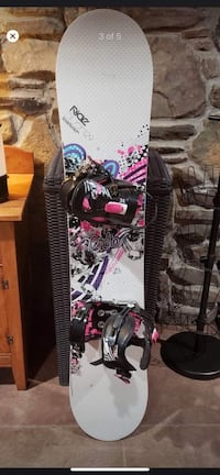 Woman's ride snowboard and boots