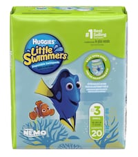 NEW Huggies Little Swimmers - Size 3 (16-26 pounds)
