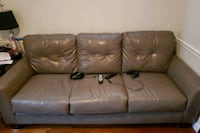 Brown leather couch w/ Chair Rockville