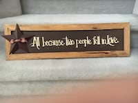 Rustic Wood Sign- New With Tags