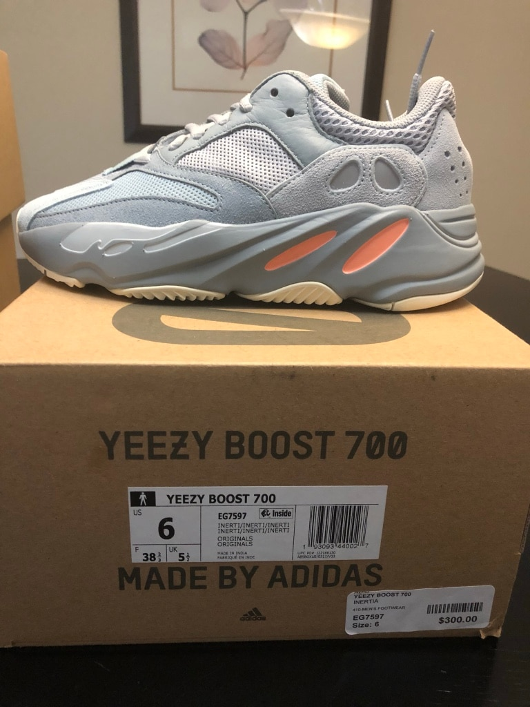 Details about Adidas Yeezy 700 'Inertia' , With Box Size 8.5
