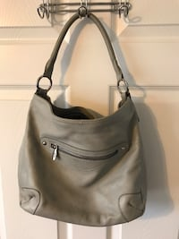 women's gray leather shoulder bag Chantilly, 20152