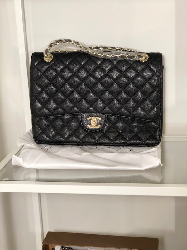 c1f290c59678 Used quilted black Chanel leather crossbody bag for sale in Toronto - letgo