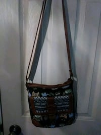 brown and black floral crossbody bag Lubbock, 79416