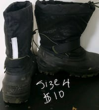 pair of black leather boots Toronto, M1P 3A3
