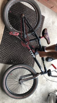 black and red hardtail mountain bike Toronto, M6H 2A2