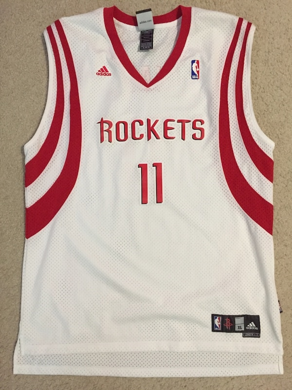 new styles c2078 e7910 White and red houston rockets adidas jersey shirt