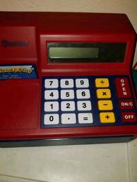 black and red cash register toy Bronx, 10463