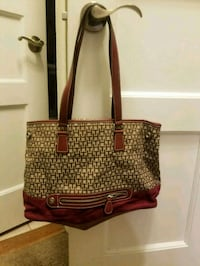 brown and black leather tote bag Cranford, 07016