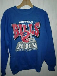 blue and red crew-neck long-sleeved shirt 299 mi