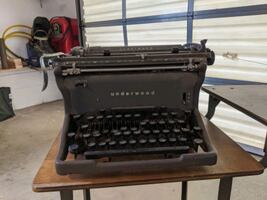 Antique Typewriter and stand