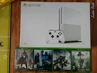 Xbox one s slim 2tb hd with 4 games  Los Angeles, 90004