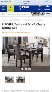 rectangular brown wooden table with four chairs dining set New Westminster, V3M 0J9