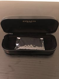 Coach sunglasses black shell holder case with cloth
