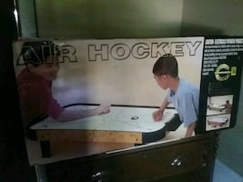 air hockey game table eveything still in the box
