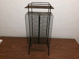 Retro Magazine rack with shelf