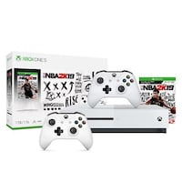 white Xbox One console with controller and game cases Silver Spring, 20906