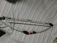 gray and black compound bow Lecompte