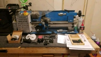 """14"""" BestEquip mini metal lathe with tons of extras"""